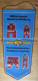 oo005 - 5 - NVA Army award Wimpel Pennant - Signals Battalion in Neubrandenburg - large size