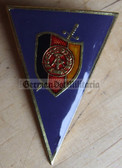 om168 - MfS Stasi Wachregiment Officer College Degree Badge  - Graduate - blue