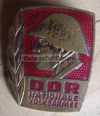 om158 - NVA Army Bester Badge with glass enamel - 1st type mid 1960's without repeat hanger brackets - worn on uniforms