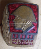 om160 - NVA Army Bester Badge with glass enamel - 1st type mid 1960's without repeat hanger brackets - worn on uniforms