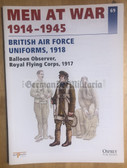 wb125 - BRITISH AIR FORCE UNIFORMS 1918 - Osprey Men at War series