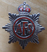 be003 - British AFS - Auxiliary fire service 1940-52 with Kings Crown button hole badge