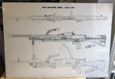 be022 - British Army Barracks Bren Gun display poster sign - large