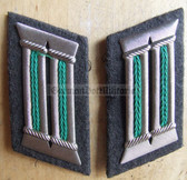 sbbs009 - 9 - pair of Grenztruppen Officer Collar Tabs - Dress Uniform