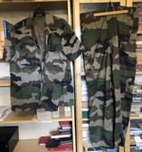 be103 - c1990's French Army camo uniform - short sleeved shirt and trousers