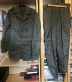 be108 - c1980's French Army olive uniform - jacket and trousers