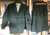 be093 - Reenactment copy WW2 female Waffen-SS tunic with skirt