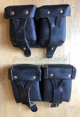 wo376 - pair of Soviet Naval Infantry double ammo pouches