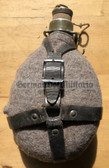 wo087 - M60 Czech CSLA army webbing canteen water bottle with cork stopper - scarce