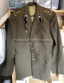 wo334 - original Soviet Army officer uniform jacket with Officer College Graduate badge - Captain rank