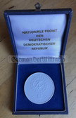 oo134 - c1960's Meissen Porcelain cased East German Nationale Front presentation medal
