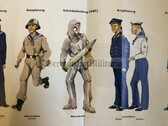po006 - c1962 dated NATO West German educational poster about NVA Volksmarine Navy uniforms - large size