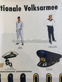 po009 - c1960's NATO Dutch educational poster about NVA Volksmarine Navy uniforms - very large size