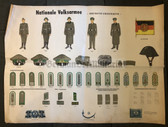 po007 - c1965 dated NATO Dutch educational poster about Grenztruppen Border Guards uniforms - very large size