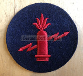 om178 - Volksmarine VM Navy Ari Elektriker - Artillery Electrical Specialist Sleeve Patch for EM & NCO - blue