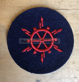 om175 - Volksmarine VM Navy Elektro Nautik - Nautical Electrical Specialist Sleeve Patch for EM & NCO - blue