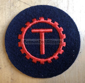 om176 - Volksmarine VM Navy Turbine - Turbine Engine Specialist Sleeve Patch for EM & NCO - blue