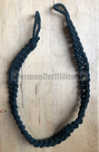 om513 - 6 - Volkspolizei VoPo East German Police older dark green whistle lanyard