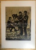 po076 - large NVA poster print - Volksmarine band practice