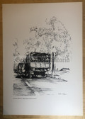 po077 - large NVA poster print - NVA soldiers on the back of an IFA W50 truck