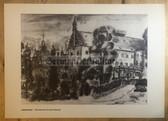 po079 - large NVA poster print - Boitzenburg - Grenztruppen garrison town