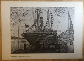 po082 - large NVA poster print - Pionierschiff - ship for young pioneers