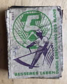 om135 - c1950's East German match box as pocket filler for your NVA uniforms - matches