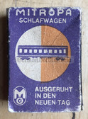 om140 - c1960's East German Interhotel match box as pocket filler for your NVA uniforms - matches