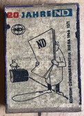 om171 - c1966 East German SED newspaper Neues Deutschland match box as pocket filler for your NVA uniforms - matches