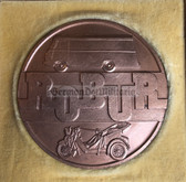 oo079 - IFA Robur Works Zittau cased table medal - faithful service - truck maker
