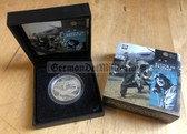 oo003 - original c2010 Royal Mint £5 Battle of Britain Alderney commemorative coin