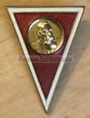 om328 - NVA Army, Grenztruppen & Navy Officer MAK Dresden Military Academy Degree Badge  - Graduate