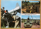 wpc545 - c1977 postcard Missile Troops