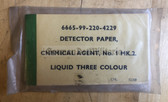 wo607 - British Army issue Chemical Agent Detector Paper