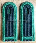 sbbpfd004 - WACHTMEISTER - Bereitschaftspolizei BePo Riot Police - subdued field uniform pair of shoulder boards - Felddienst
