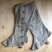 wo673 - 5 - c1944 dated original British Army Nursing Officer tropical uniform spats - size 4
