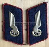 sbbs095 - 5 - DR Deutsche Reichsbahn - red piping - Conductors & Station personnel Collar Tabs