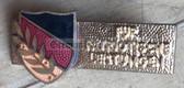 om839 - c1950s DDR Nationale Front award badge in gold - enamel