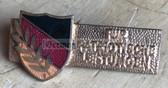 om840 - c1950s DDR Nationale Front award badge in gold - enamel
