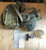 wo733 - complete Polish MP-4 gas mask set with all extras - Poland