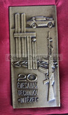 oo044 - cased Hungarian army presentation plaque - Hungary