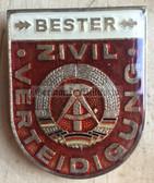 om028 - ZV Zivilverteidigung Civil Defence Bester Badge - worn on uniforms