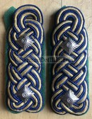 sbdr021b - OBERRAT - tracks & train construction - green piping - Deutsche Reichsbahn - Railways - pair of shoulder boards