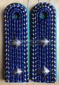 sbdr006c - ASSISTENT - tracks & train construction - green piping - Deutsche Reichsbahn - Railways - pair of shoulder boards