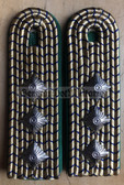 sbdr018a - AMTMANN - green piping - tracks & train construction - Deutsche Reichsbahn - Railways - pair of shoulder boards