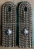 sbdr016a - INSPEKTOR - green piping - tracks & train construction - Deutsche Reichsbahn - Railways - pair of shoulder boards