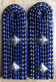sbdr006b - ASSISTENT - Engineering - blue piping - Deutsche Reichsbahn - Railways - pair of shoulder boards