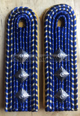 sbdr007a - OBERASSISTENT - Signalling & Communications - yellow piping - Deutsche Reichsbahn - Railways - pair of shoulder boards