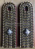 sbdr016 - INSPEKTOR - Platform & Train Staff- red piping - Deutsche Reichsbahn - Railways - pair of shoulder boards