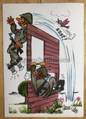 wpc506 - NVA cartoon fun original DDR postcard